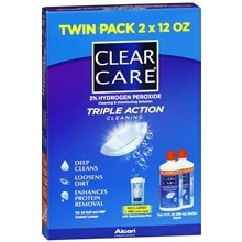 Triple Action Cleaning 3% Hydrogen Peroxide Cleaning & Disinfecting Solution Contact Lens