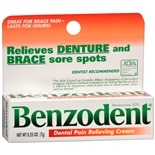 Benzodent Denture Pain Relieving Cream