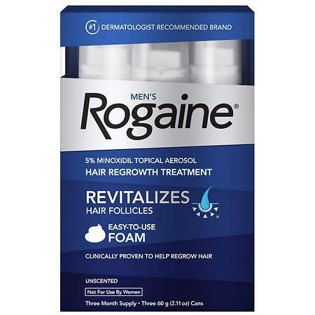 Men's Rogaine Hair Regrowth Treatment Foam