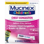 Children's Mucinex Chest Congestion Expectorant, Mini-Melts Bubble Gum