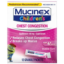 Children's Mucinex For Kids Bubble Gum Expectorant Mini-Melts Bubble Gum
