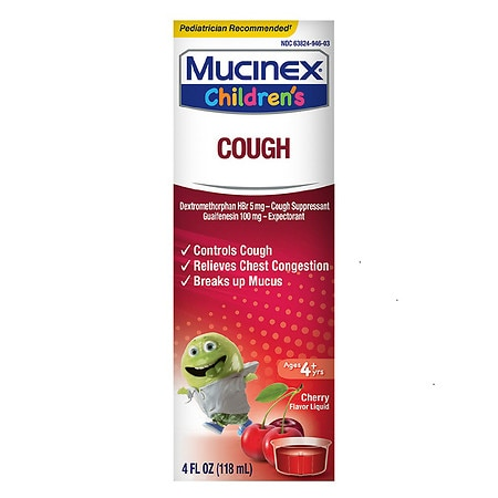 Children's Mucinex Cough Expectorant and Suppressant Cherry