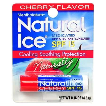 Natural Ice Medicated Lip Protectant/Sunscreen SPF 15 Cherry