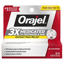 Orajel Instant Toothache Pain Relief Maximum Strength Gel
