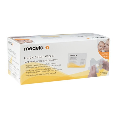 Medela Quick Clean Wipes for Breastpumps & Accessories