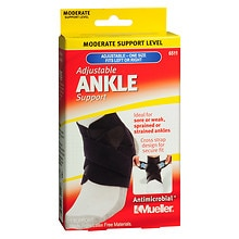 Mueller Sport Care Sport Care Adjustable Ankle Support Black Left or Right One Size Black