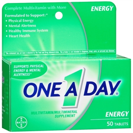One A Day Energy Multivitamin/Multimineral Supplement Tablets