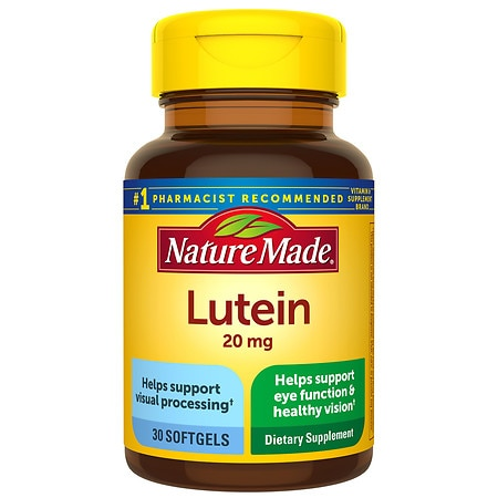 Nature Made Lutein 20 mg Dietary Supplement Liquid Softgels