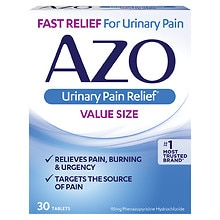 Standard Urinary Pain Relief Tablets