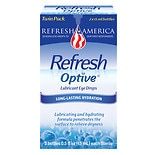REFRESH Optive Lubricant Eye Drops 2 Pack