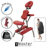 Master Massage Bedford Portable Massage Chair With Case Maroon