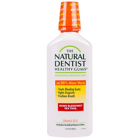 The Natural Dentist Healthy Gums Daily Oral Rinse Orange Zest