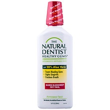 The Natural Dentist Healthy Gums Antigingivitis Rinse Peppermint Twist