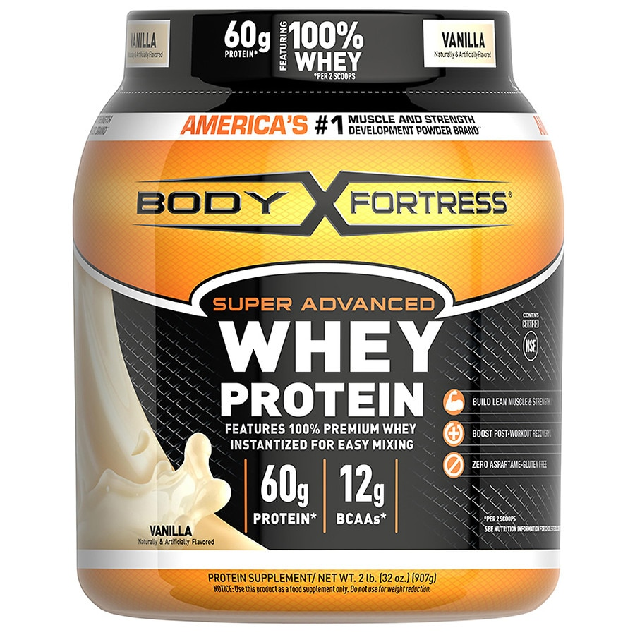 body fortress super advanced whey protein supplement powder vanilla walgreens. Black Bedroom Furniture Sets. Home Design Ideas