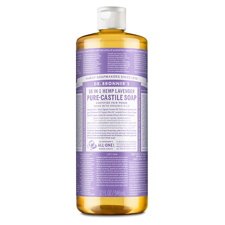 dr bronner 39 s magic soaps 18 in 1 hemp pure castile soap lavender walgreens. Black Bedroom Furniture Sets. Home Design Ideas