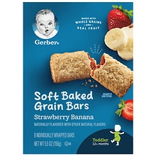 Gerber Graduates for Toddlers Cereal Bars Strawberry Banana