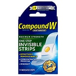 Compound W One Step Invisible Wart Remover Strips Maximum Strength