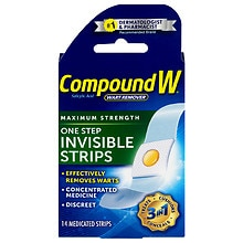 Compound W One Step Invisible Wart Remover Strips