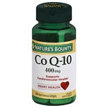 Nature's Bounty Co Q-10 400 mg Rapid Release Dietary Supplement Liquid Softgels