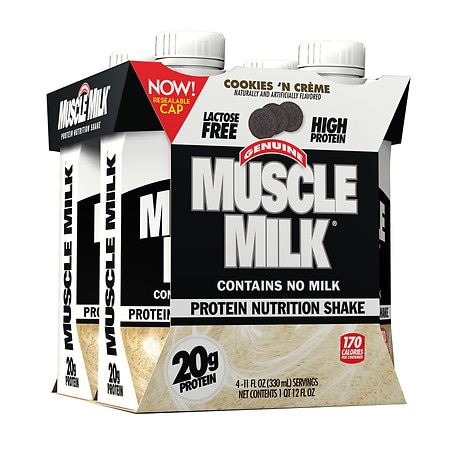 CytoSport Muscle Milk Nutritional Shake 4 Pack Cookies N Creme