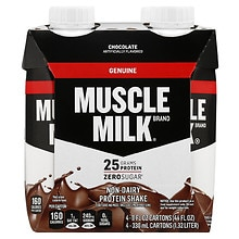Muscle Milk Protein Nutrition Shake 4 Pack Chocolate Milk