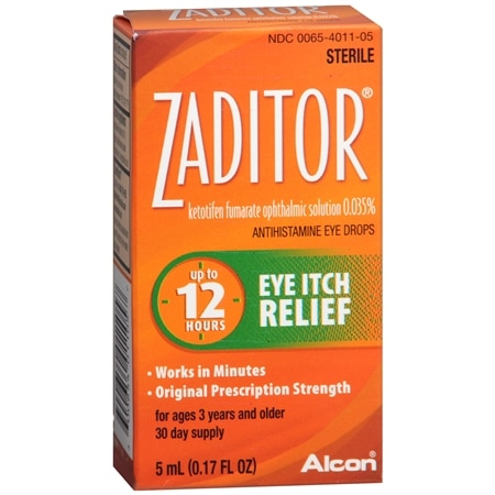 Zaditor Antihistamine Eye Drops