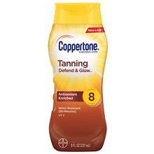 Coppertone Tanning Lotion Sunscreen, SPF 8
