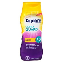 Coppertone Ultra Guard Sunscreen Lotion, SPF 50