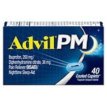 Advil PM Pain Reliever/Nighttime Sleep-Aid Coated Caplets Coated Caplets