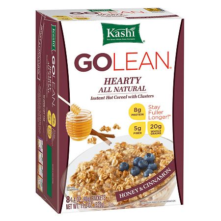 Kashi GOLEAN: Instant Hot Cereal Hearty Honey & Cinnamon,8 pk