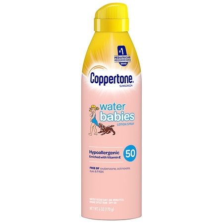 Coppertone Water Babies Lotion Spray SPF 50