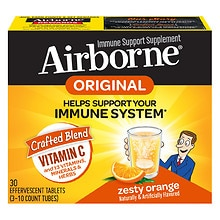 Airborne Effervescent Tablets, Triple Pack Zesty Orange
