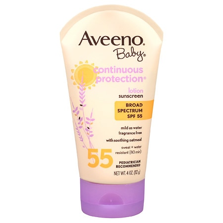 Aveeno Baby Continuous Protection Sunscreen Lotion, SPF 55