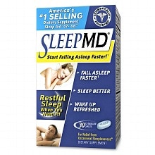 MD Products Sleep Aid Dietary Supplement EZ-Swallow Caplets