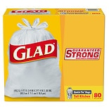 Glad Quick-Tie Trash-Garbage Bags Tall Kitchen 13 gallon
