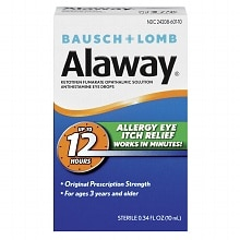 Alaway Eye Itch Relief Antihistamine Eye Drops