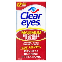 Maximum Redness Relief Lubricant Redness Reliever Eye Drops