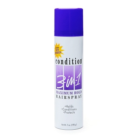 Condition 3-in-1 Maximum Hold Hairspray with Sun Screen