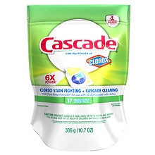 Cascade 2-in-1 ActionPacs with Bleach Dishwashing Detergent Lemon Scent