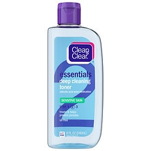 Clean & Clear Deep Cleaning Toner, Sensitive Skin