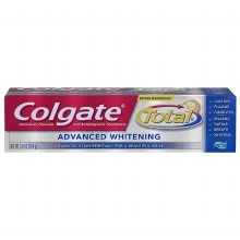 Colgate Total Anticavity Fluoride and Antigingivitis Toothpaste Gel Advanced Whitening