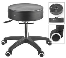 Master Massage SpaMaster Essentials Adjustable Therapist Stool