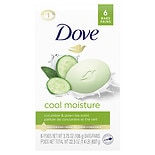 Dove Go Fresh Cool Moisture Bath Bars 6 Pack Cucumber and Green Tea Scent