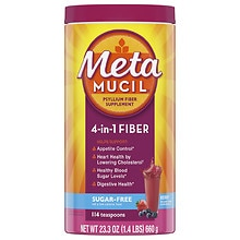 Metamucil Sugar Free Smooth Texture Fiber Laxative/Fiber Supplement Berry Smooth