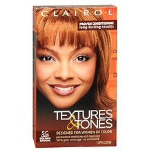Clairol Textures & Tones Permanent Haircolor Light Golden Brown 5G