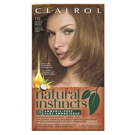 Non-Permanent Hair Color 6.5G/11G Lightest Golden Brown | Walgreens