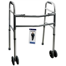 Medline Extra-Wide Two-Button Walker