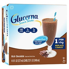 Glucerna Snack Shake 4 Pack Chocolate