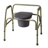 Medline Deluxe Bariatric Steel Commode