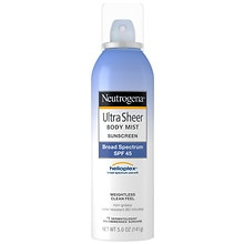 Neutrogena Ultra Sheer Body Mist Sunblock Spray